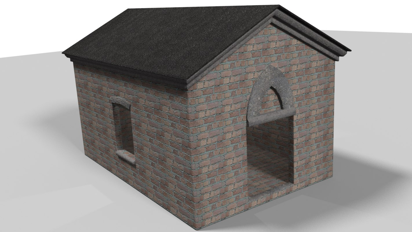 brick shed 3D model
