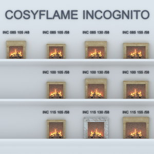 3D model fireplaces cosyflame incognito