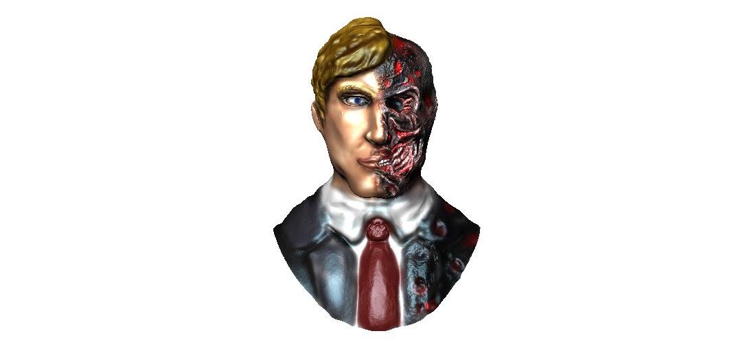 burned bust 3D