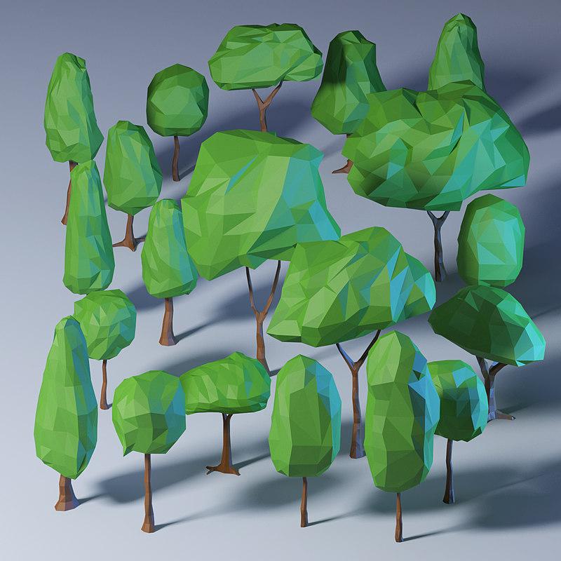 polygonal trees pack model