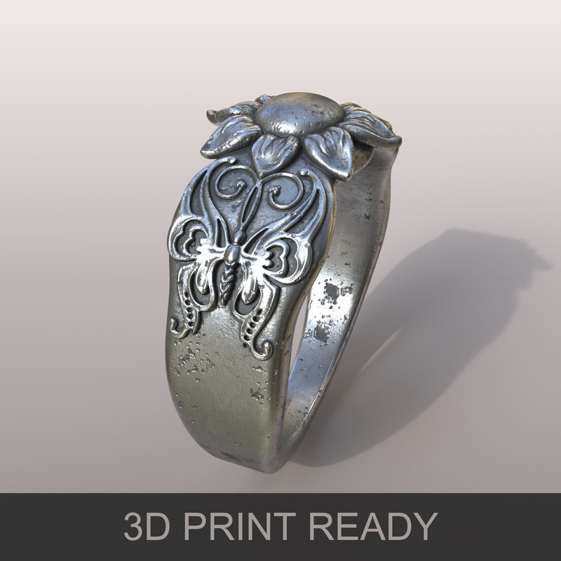 ring butterfly 3D