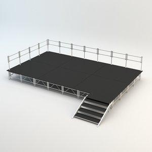 3D concert stage base model
