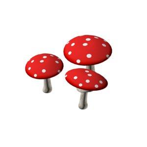 cartoon mushroom 3D