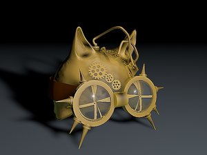 3D steampunk helmet