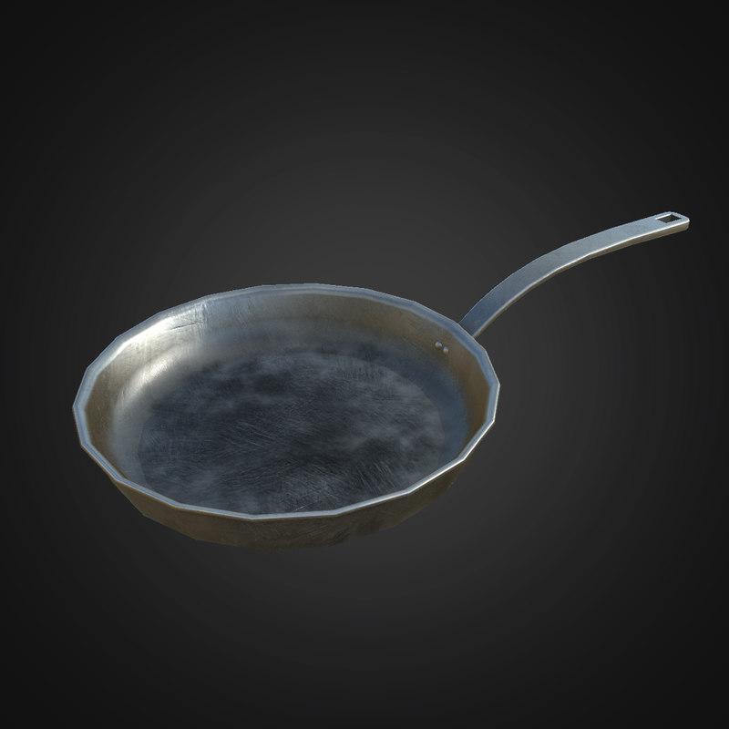 3D frying pan - pbr