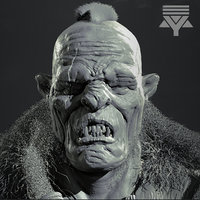 Orc Bust Highpoly