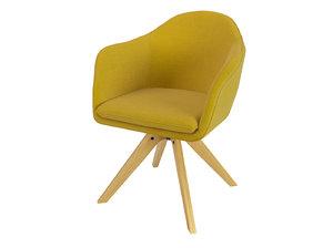 armchair quilda laredoute 3D model