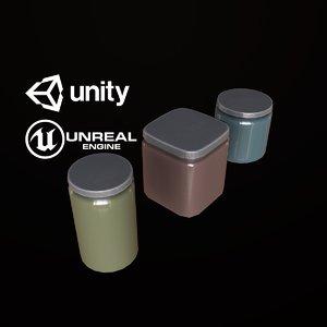 3D pbr ready jars