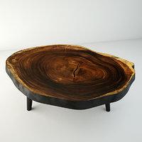 suar wood table 3D