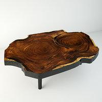 3D suar wood table