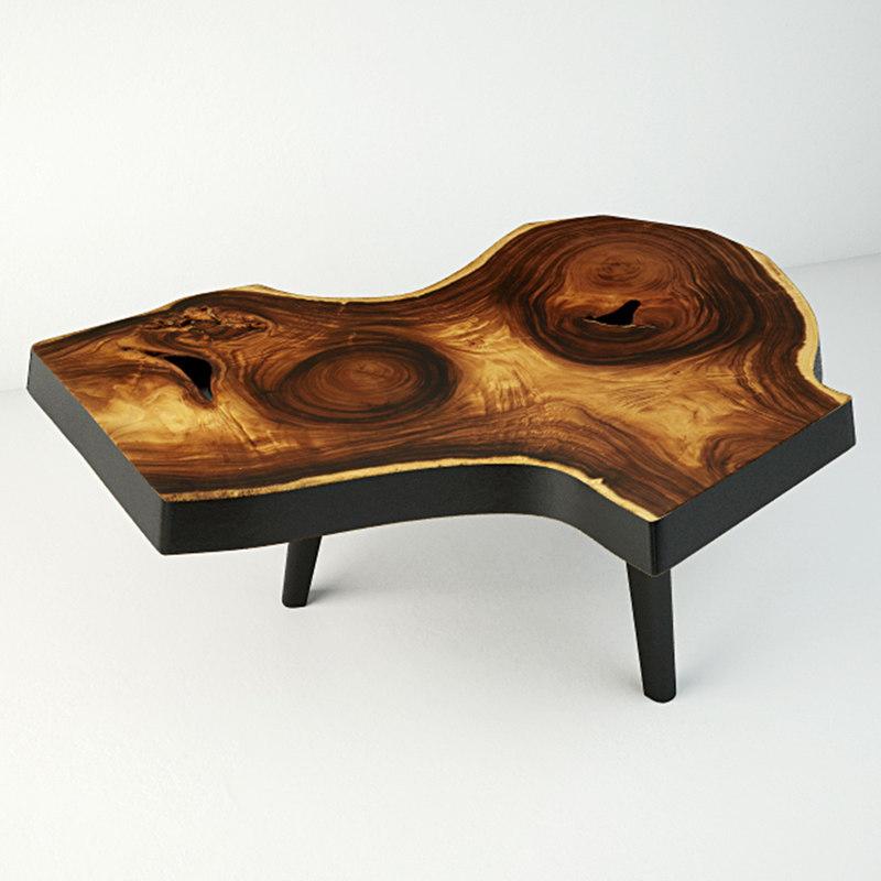 3D model suar wood table