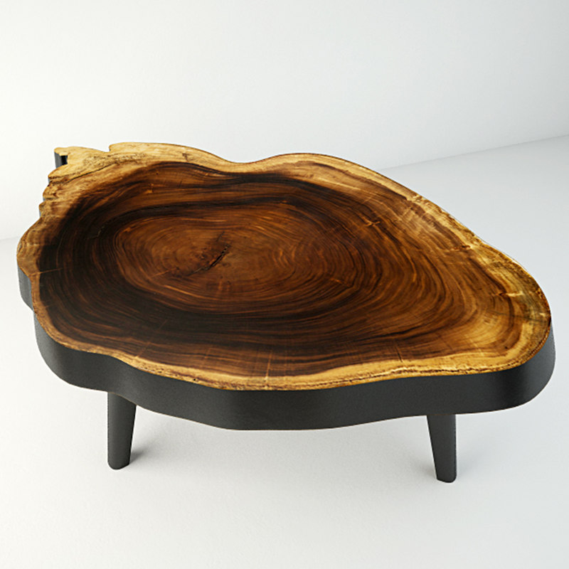 3D suar wood table model
