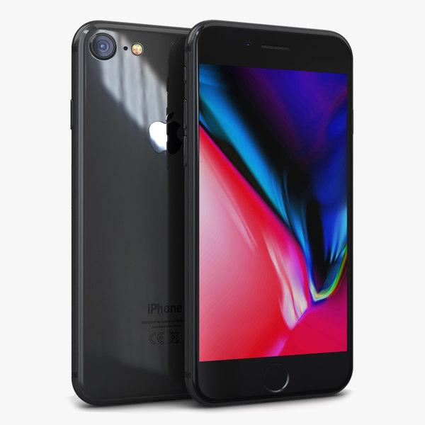 apple iphone 8 space 3D model