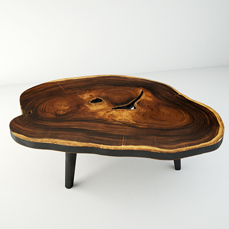 3D suar wood table