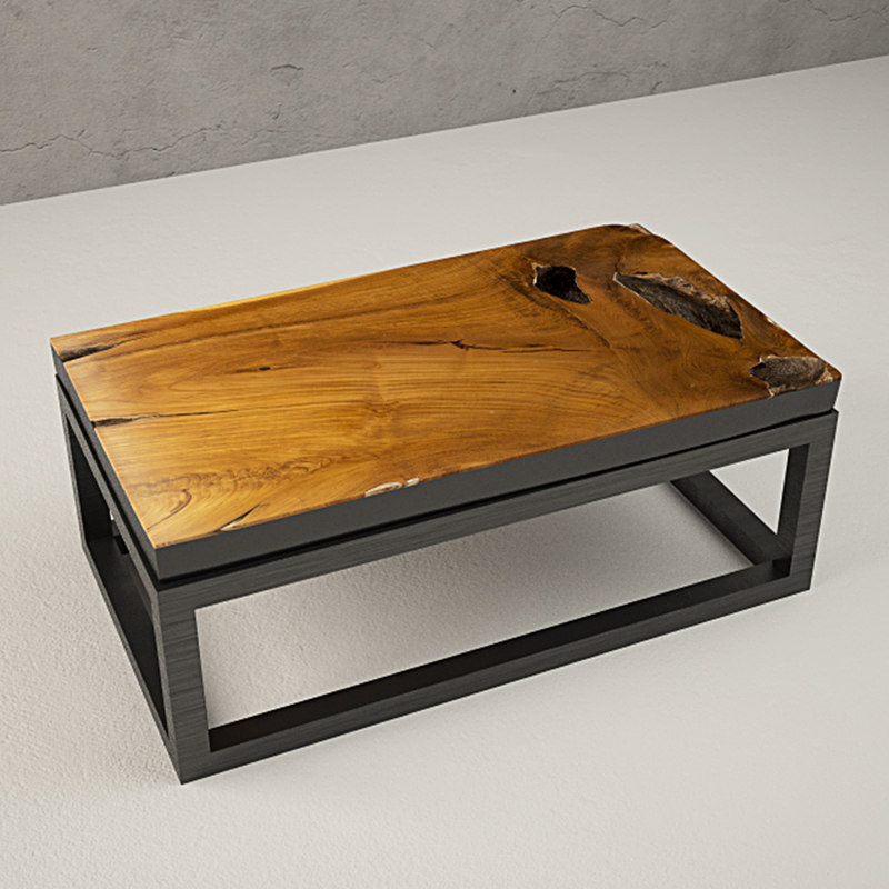 3D teak coffee table model