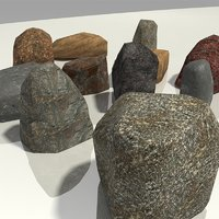 different rocks - stones model