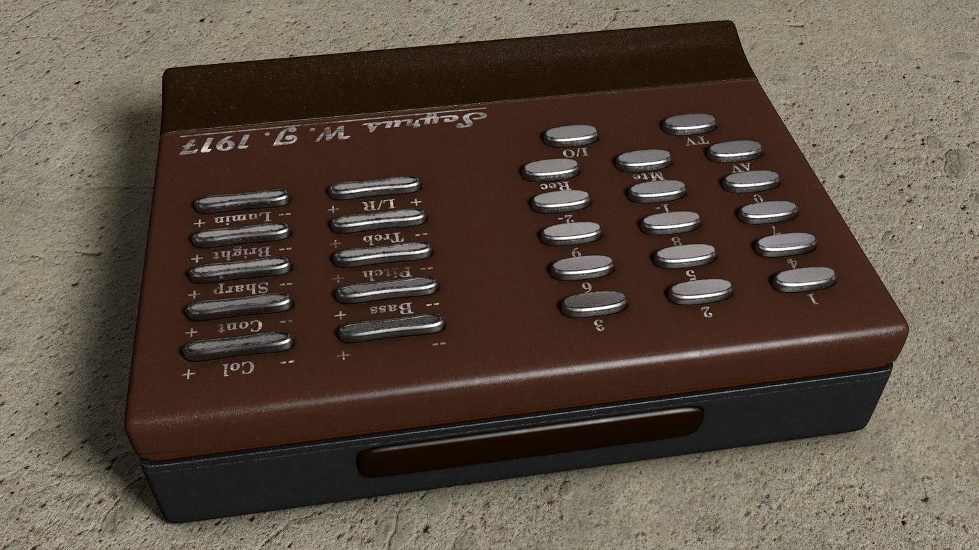 3d Vintage Tv Remote Control Turbosquid 1216785