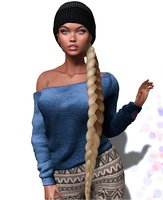 3D hairstyle second life model