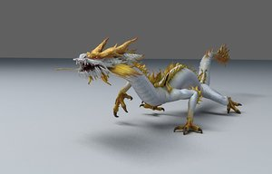 dragon character chinese 3D model