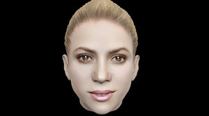 head shakira 3D model