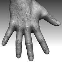 3D man hand realistic model