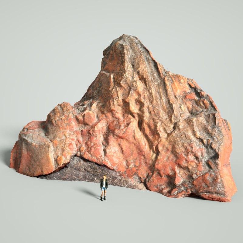 3D model mountain rocks