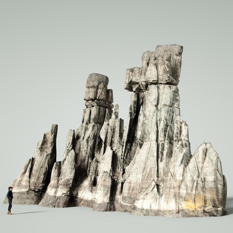 3D mountain rocks
