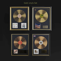 3D model gold vinyls set
