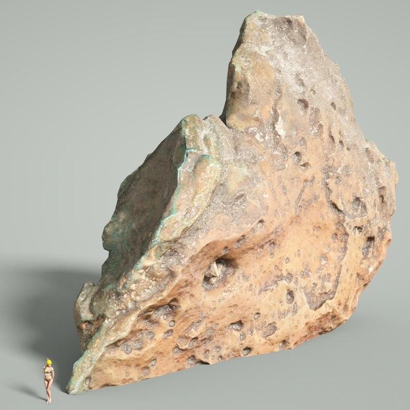 3D mountain rocks model