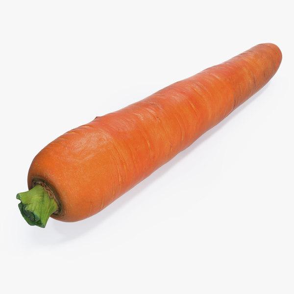 carrot realistic 3D