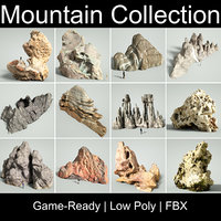 mountain rocks 3D model
