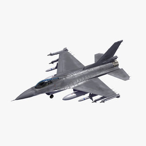 3D f16c fighter republic korea