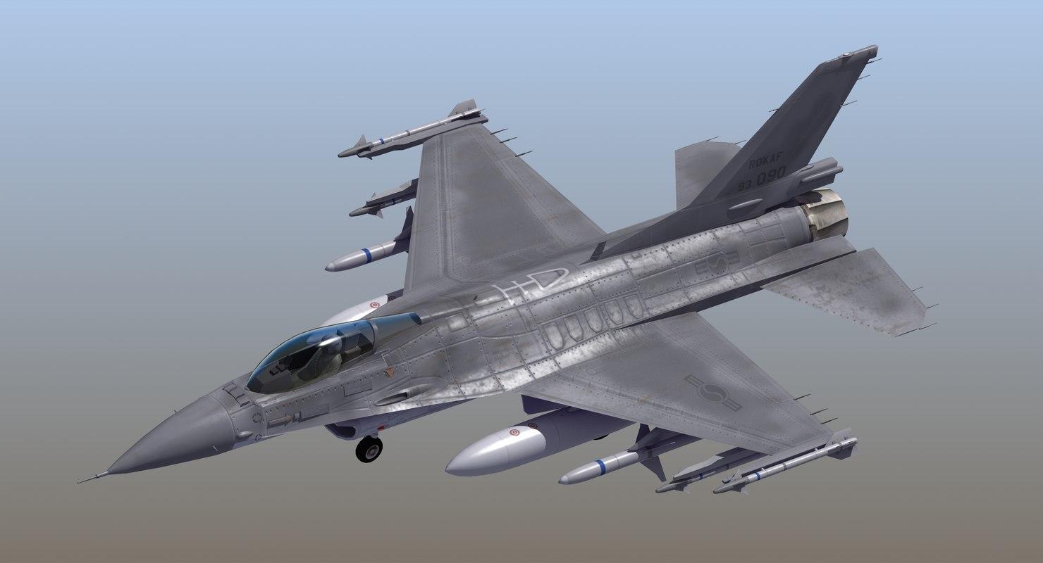 3D f16c fighter republic korea