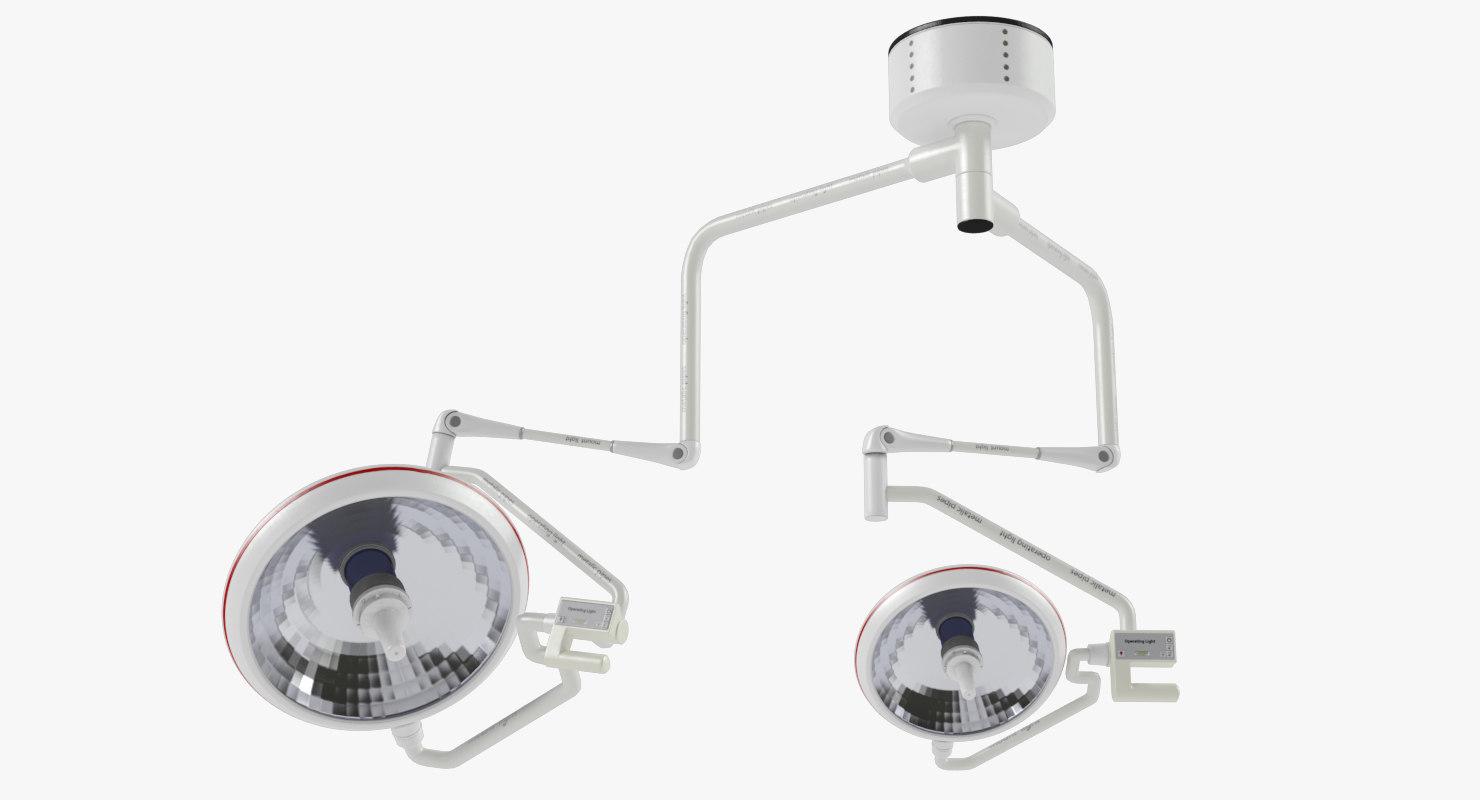 3D operating light model