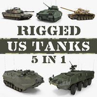 3D rigged tanks model