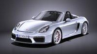 Porsche Boxster Spyder 2017 VRAY