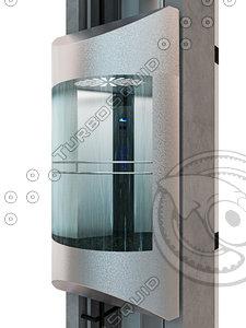 3D panoramic elevator cabin