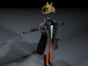 steampunk outfit 3D model