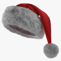 3D santa claus hat fur