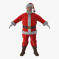 Santa Claus with Fur 3D Model