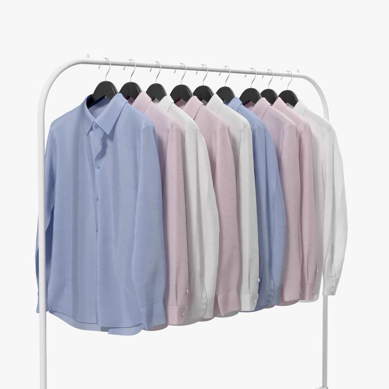 realistic shirts hanger model