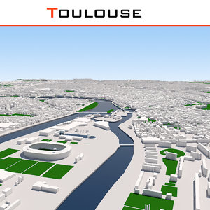 3D toulouse cityscape model
