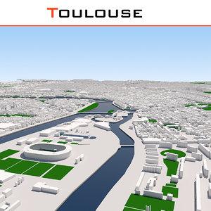 3D toulouse cityscape model