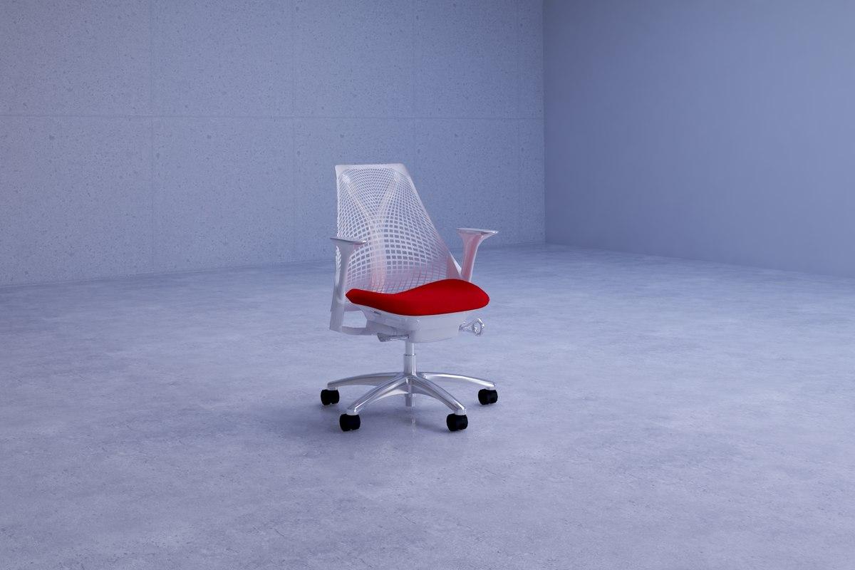 contemporary sayl office chair 3D