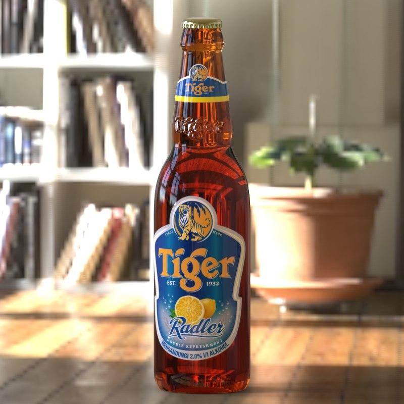 3D tiger radler model