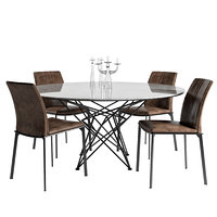 cattelan table gordon grouped 3D model