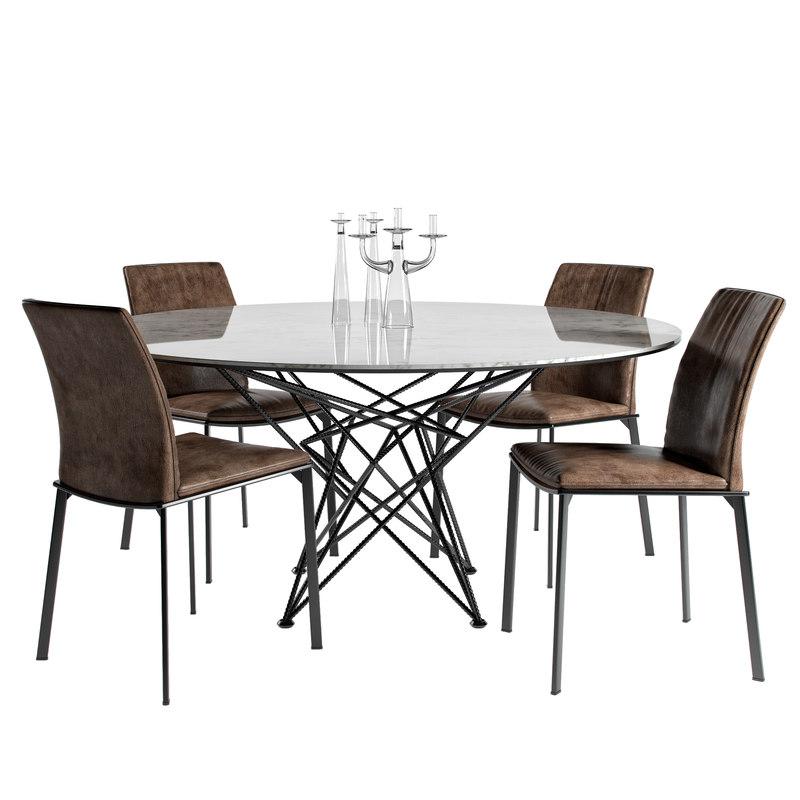 cattelan table gordon grouped 3D model