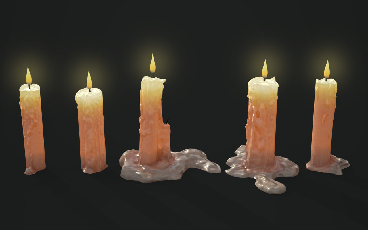 candles pack 3D model