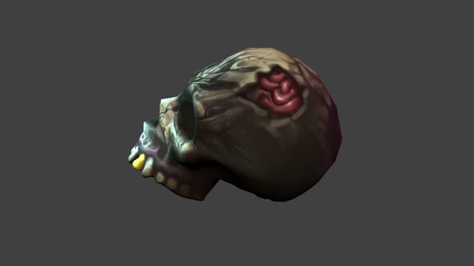 skull painted model