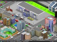 3D cartoon city